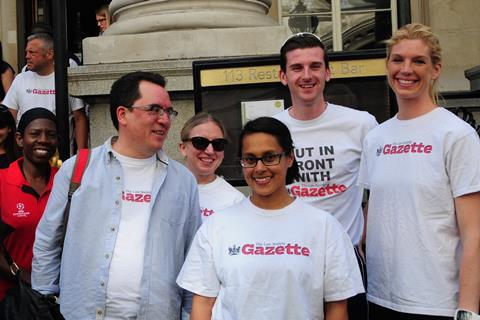 Team Gazette at London Legal Walk 2017